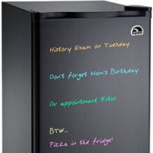 Igloo FR326M-D-BLACK Erase Board Refrigerator with Neon Markers, 3.2 cu. ft., Black
