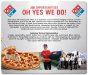 Customer Service Representative (Domino's Pizza)