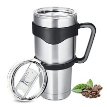 Homewill 900ML Tumbler Vacuum Insulated Stainless Steel with Lid and Handle Double Wall Travel Mug