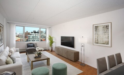 Apartments Near YU NO FEE! Large East-facing Studio Avail in Soho's Best Luxury Bldg w/Attended Parking, Garden & Fitness. for Yeshiva University Students in New York, NY